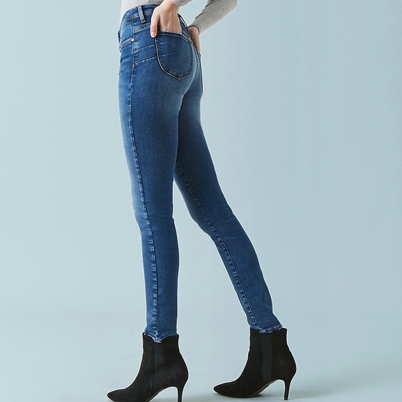 e0af4303eb Forever 21 Denim - forever 21 high rise dark push up skinny jeans